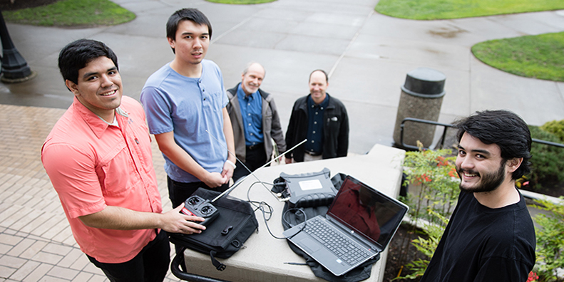 Three electrical engineering students teamed with Tektronix